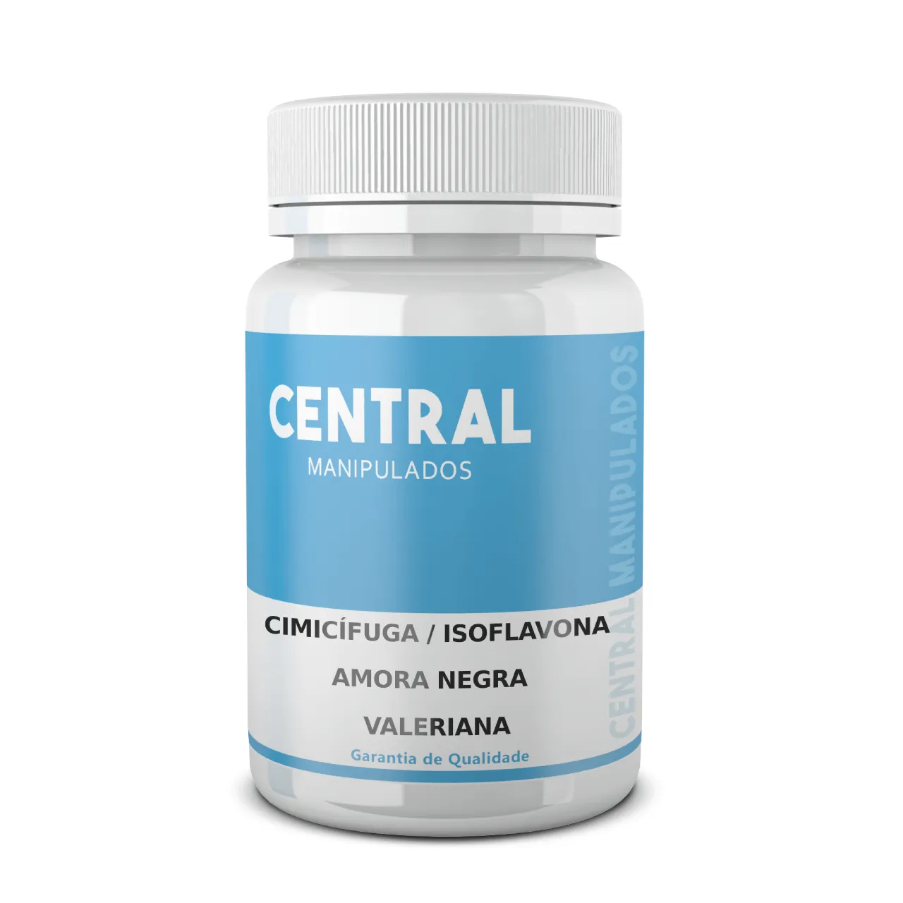 Cimicifuga 40mg + Isoflavona 50mg + Amora Negra 300mg + Valeriana 100mg - 60 Cápsulas - Composto para Menopausa