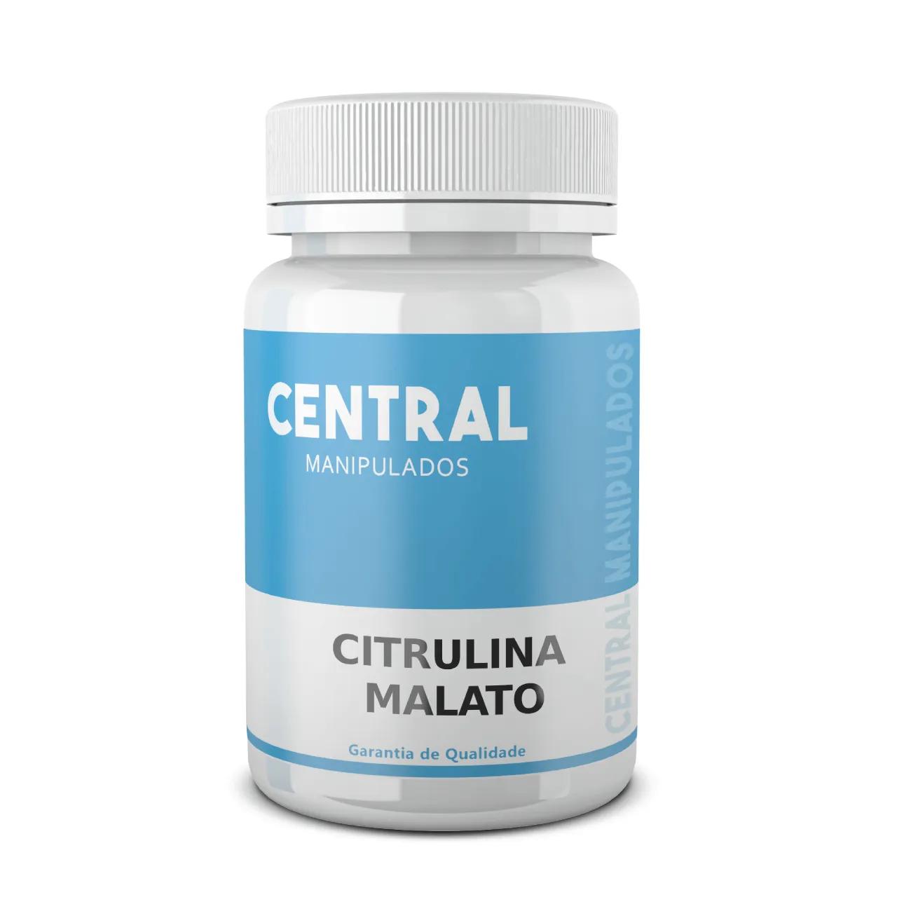 Citrulina Malato 500mg - 30 Cápsulas - Ganho de massa muscular, Melhor desempenho esportivo, físico e mental, Aumenta a força e resistência