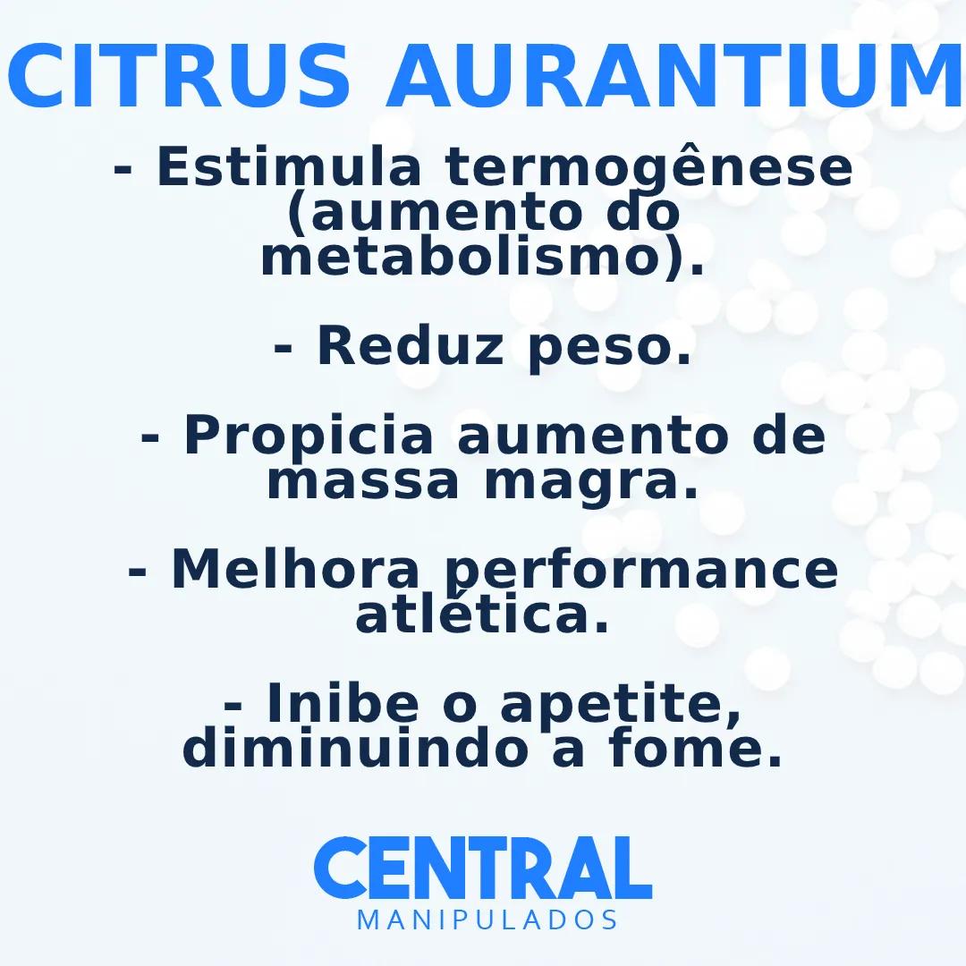 Citrus Aurantium (Laranja Amarga) 500mg - 120 cápsulas - Emagrecimento, Diminui Apetite, Termogênico