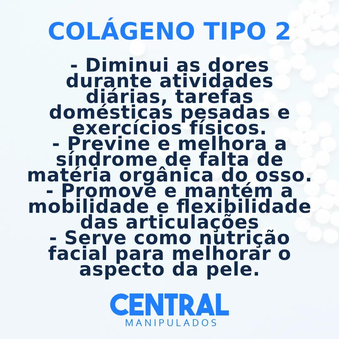 Colágeno Tipo 2 20MG - 120 cápsulas - Dores Articulares, Ósseas e das Cartilagens