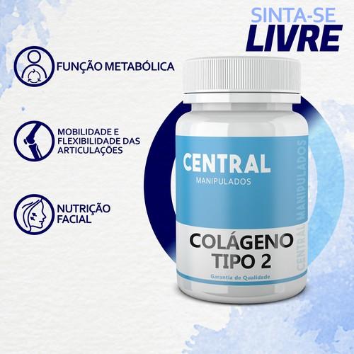 Colágeno tipo 2 40mg - 180 cápsulas - Dores Articulares, Ósseas e das Cartilagens
