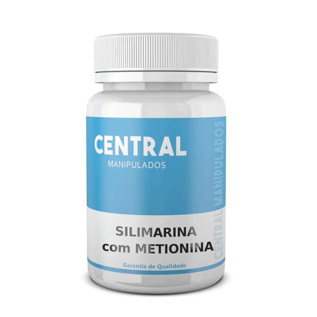 Silimarina 200mg + Metionina 120mg - 180 Cápsulas - Protetor do Fígado