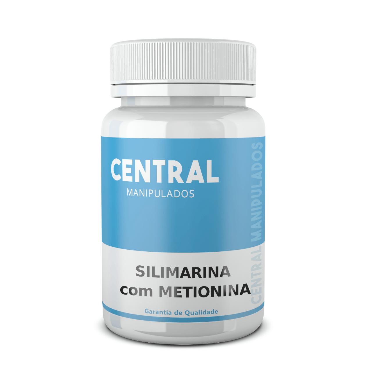 Silimarina 200mg + Metionina 120mg - 60 Cápsulas - Protetor do Fígado Turbinado