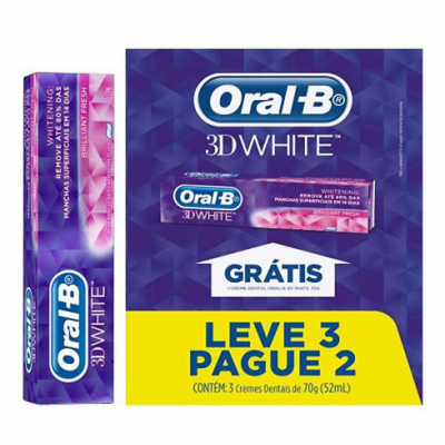 CREME  D ORAL B 3D WHITE 70G L3P2
