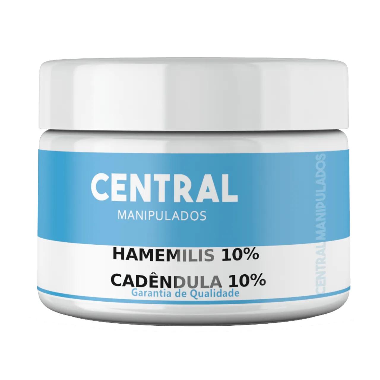 Creme Hamamelis 10% + Calêndula 10% - 100gramas - Adstringente, Acne, Varizes, Cicatrizante, Cicatrização de feridas