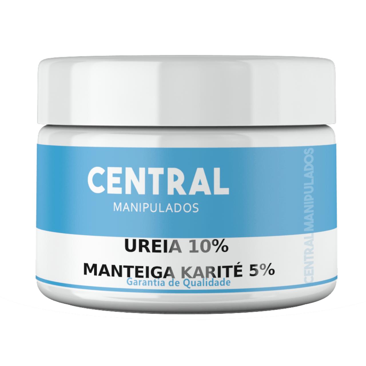 Ureia 10% + Manteiga de Karité 5% + Glicerina 10% - 500gramas Creme - Previne o Ressecamento, Antioxidante, Protege a Pele