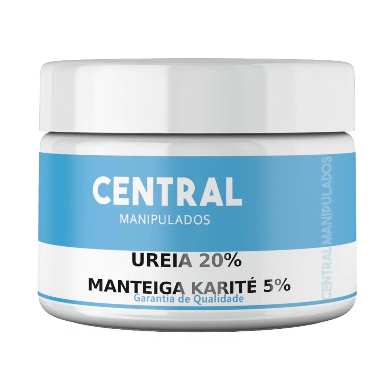 Creme Ureia 20% + Manteiga de Karité 5% + Glicerina 10% - 300gramas - Previne o Ressecamento, Antioxidante, Protege a Pele