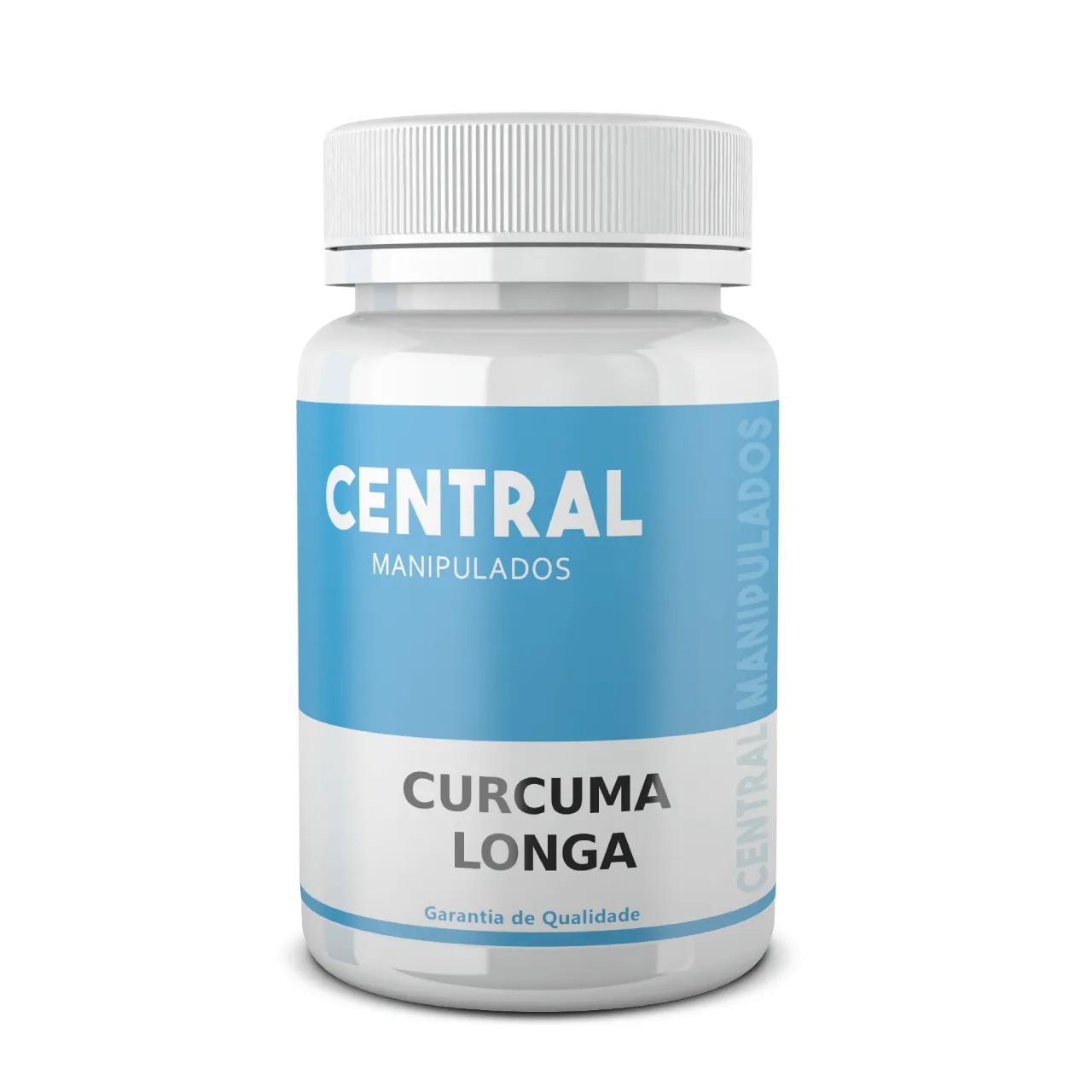 Curcuma Longa 500mg - 60 cápsulas - Antioxidante, Anti-inflamatório, Anti-reumático, Antitumoral
