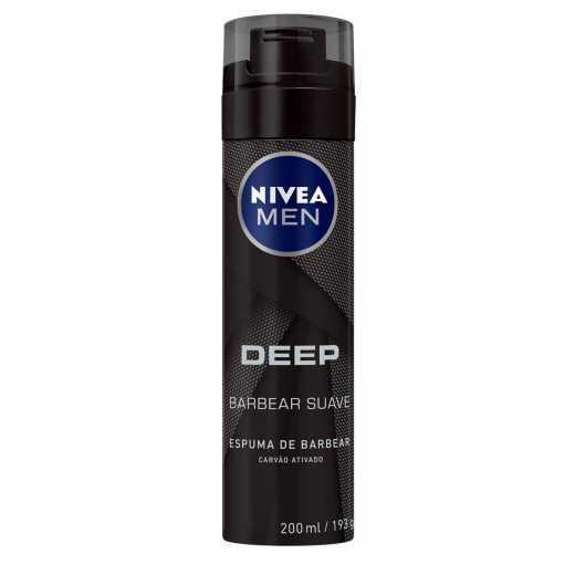 ESPUMA  BARB NIVEA DEEP BLACK 200M