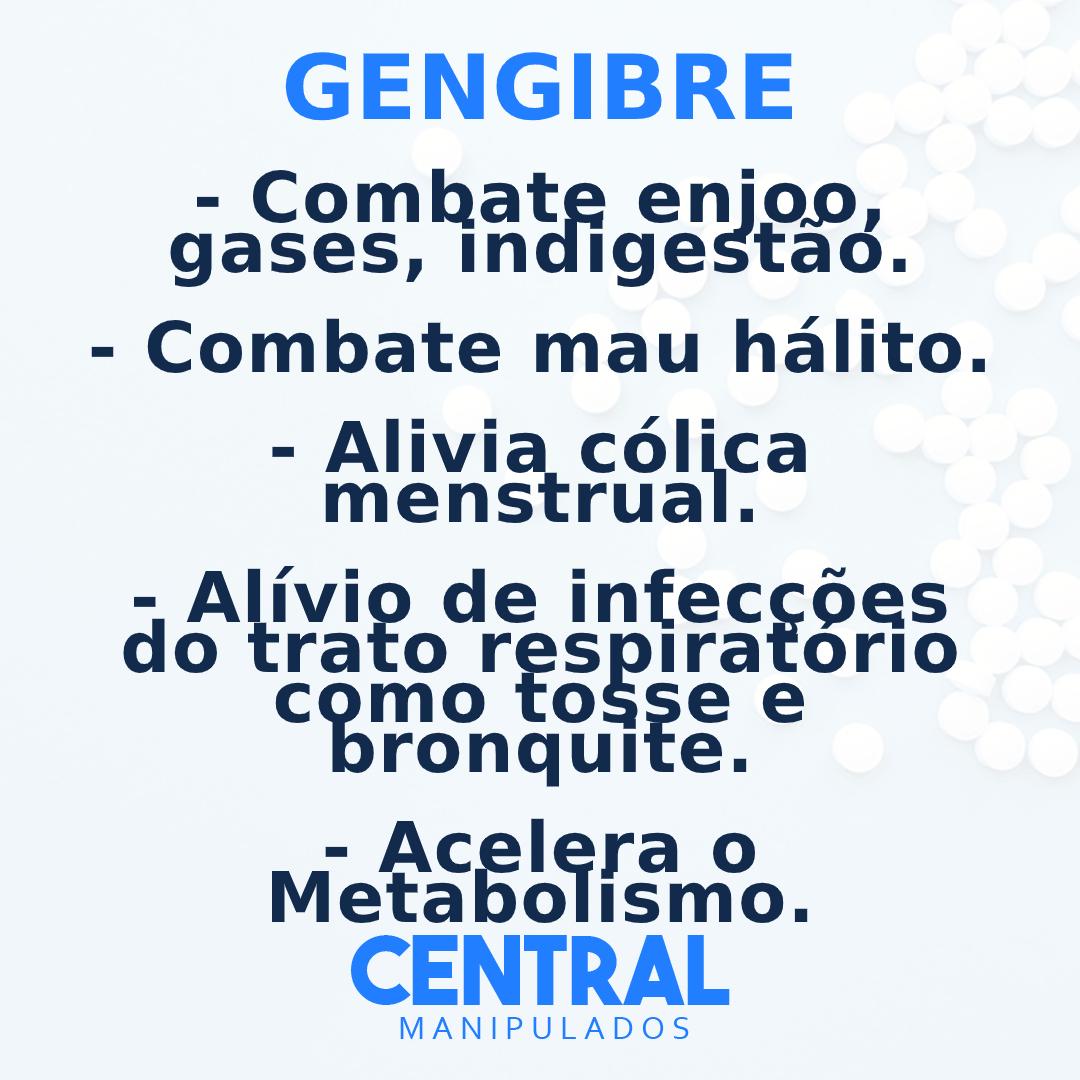 Gengibre 400mg - 30 cápsulas - Combate enjôo, gases, indigestão, Acelera do Metabolismo