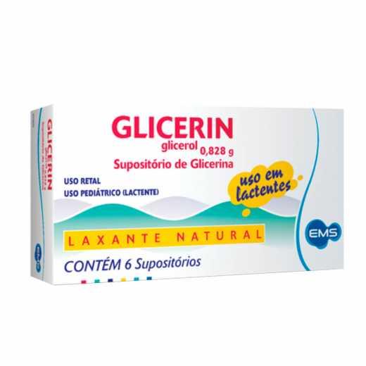 GLICERIN 6 SUPOSITÓRIOS-EMS