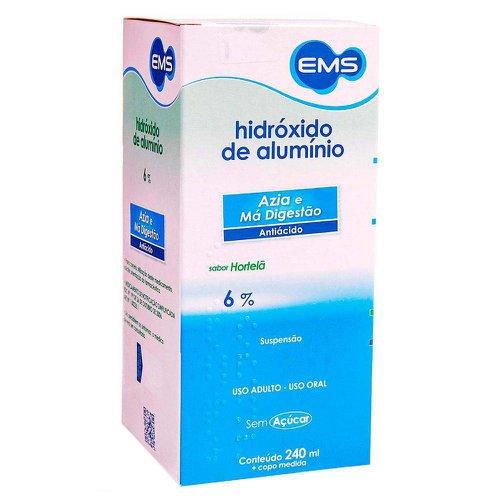 HIDRÓXIDO DE ALUMÍNIO 6% 240 ML SUSPENSÃO - EMS