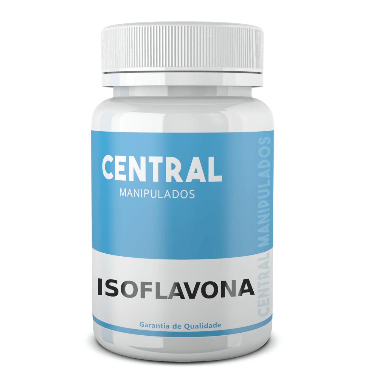 Isoflavona 8mg - 120 Cápsulas - Menopausa, protetor de osteoporose câncer de mama, de útero, e endometriose.