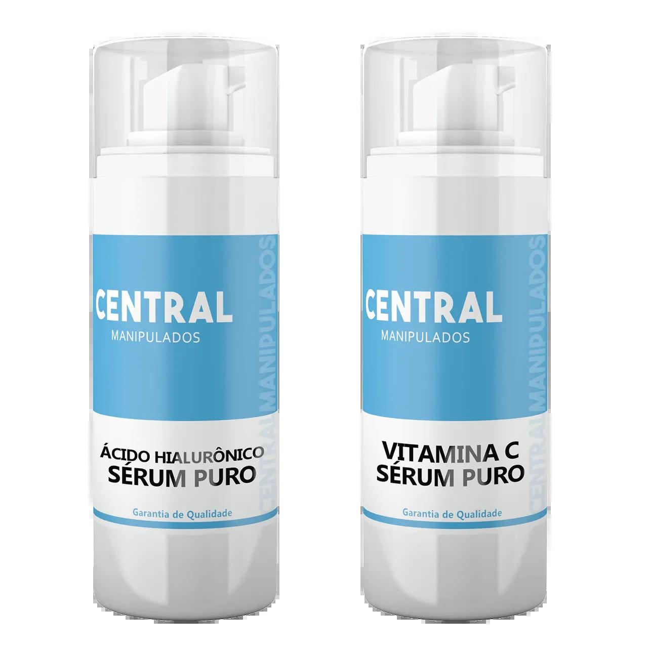 KIT Sérum Ác. Hialurônico 30ml +  Sérum Vitamina C puro 30ml
