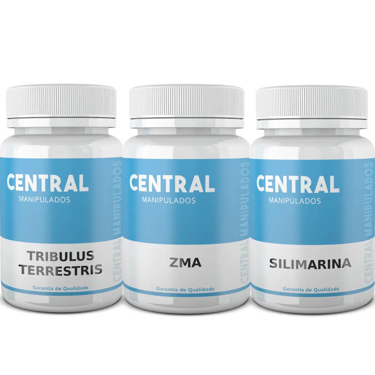 Tribulus Terrestris + ZMA + Silimarina - 60 cápsulas de cada, TOTAL 180 cápsulas