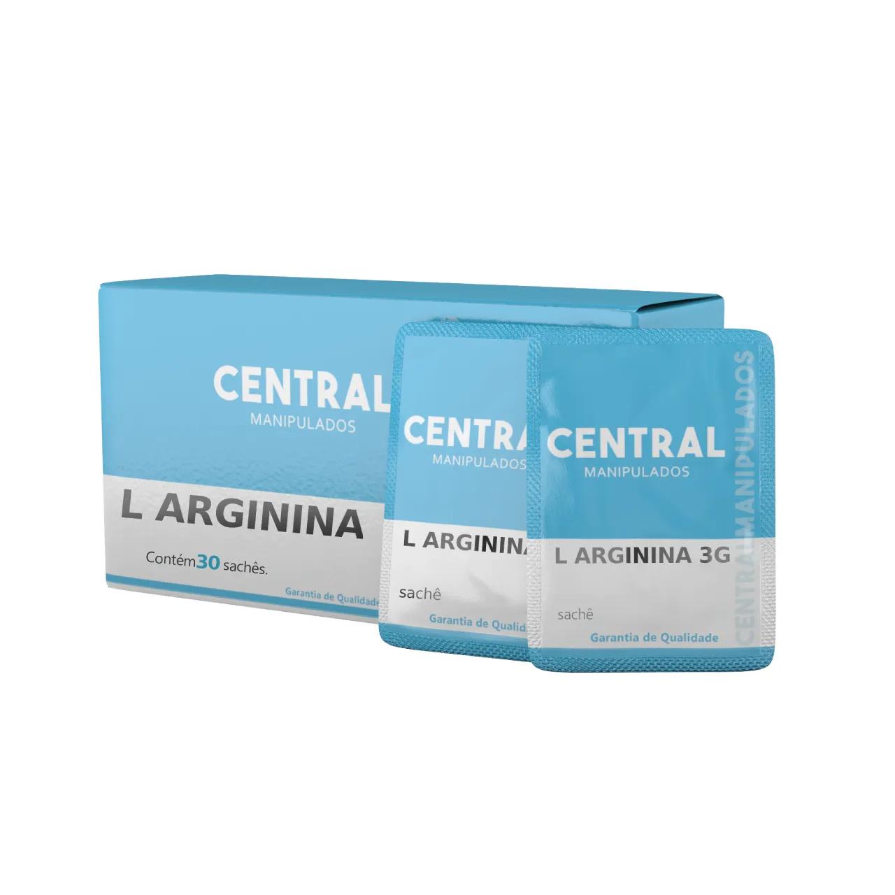 L-arginina - 30 sachês de 3g - Pré Treino - Ganho de massa muscular, Limita o Armazenamento de Gordura, Saúde Cardiovascular, Vasodilatador