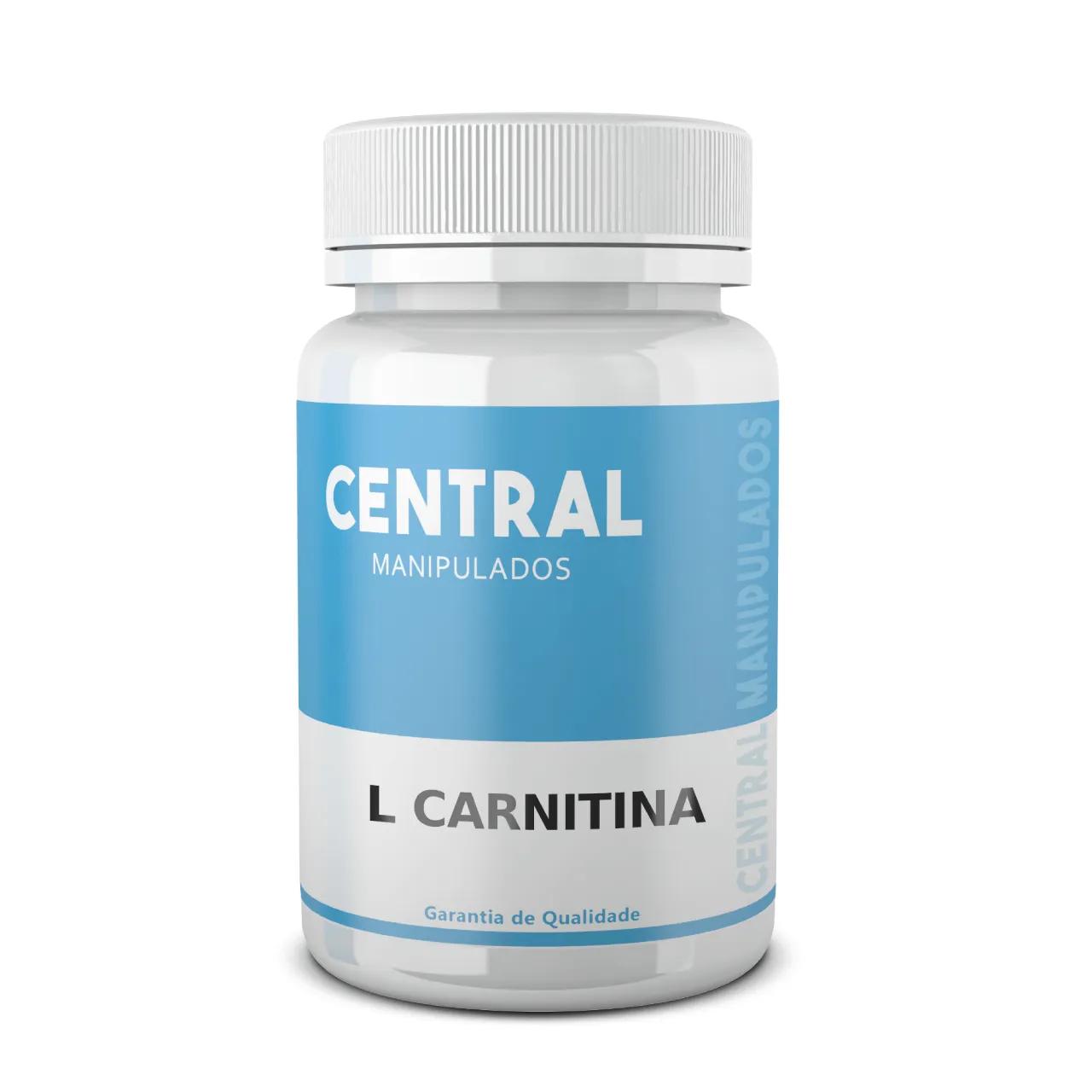 L Carnitina 500mg - 60 cápsulas - Redução de colesterol, da gordura localizada, Evita o acúmulo de gorduras no fígado e a formação de cálculos biliares