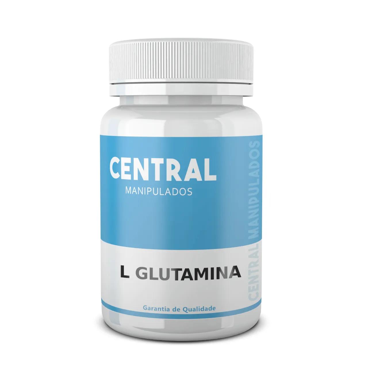 L-glutamina 500mg - 60 cápsulas - Suplemento para prática esportiva, Imunidade, Desintoxicação corporal, Regulador Hormonal