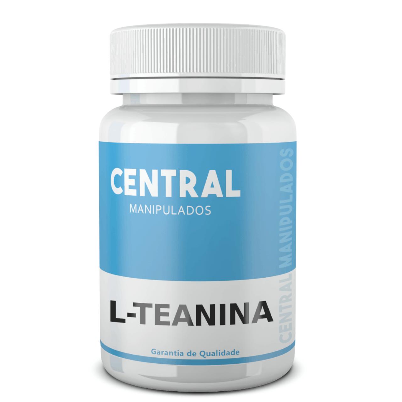 L teanina 200mg - 120 cápsulas - Reduz Ansiedade, Estresse e TPM,  Aumentar sistema imunológico,  Atenua Hipertensão