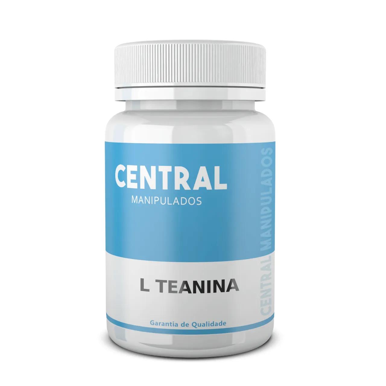 L-teanina 200mg - 30 cápsulas - Reduz Ansiedade, Estresse e TPM,  Aumentar sistema imunológico,  Atenua Hipertensão