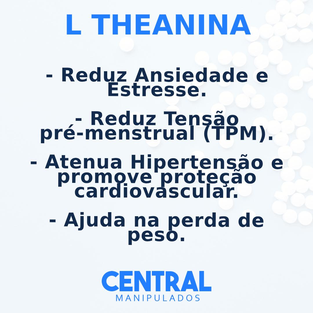 L teanina 200mg - 60 cápsulas - Reduz Ansiedade, Estresse e TPM,  Aumentar sistema imunológico,  Atenua Hipertensão