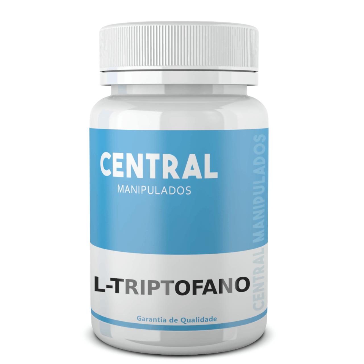 L Triptofano 500 mg - 120 cápsulas - Auxílio no Tratamento de Ansiedade Leve