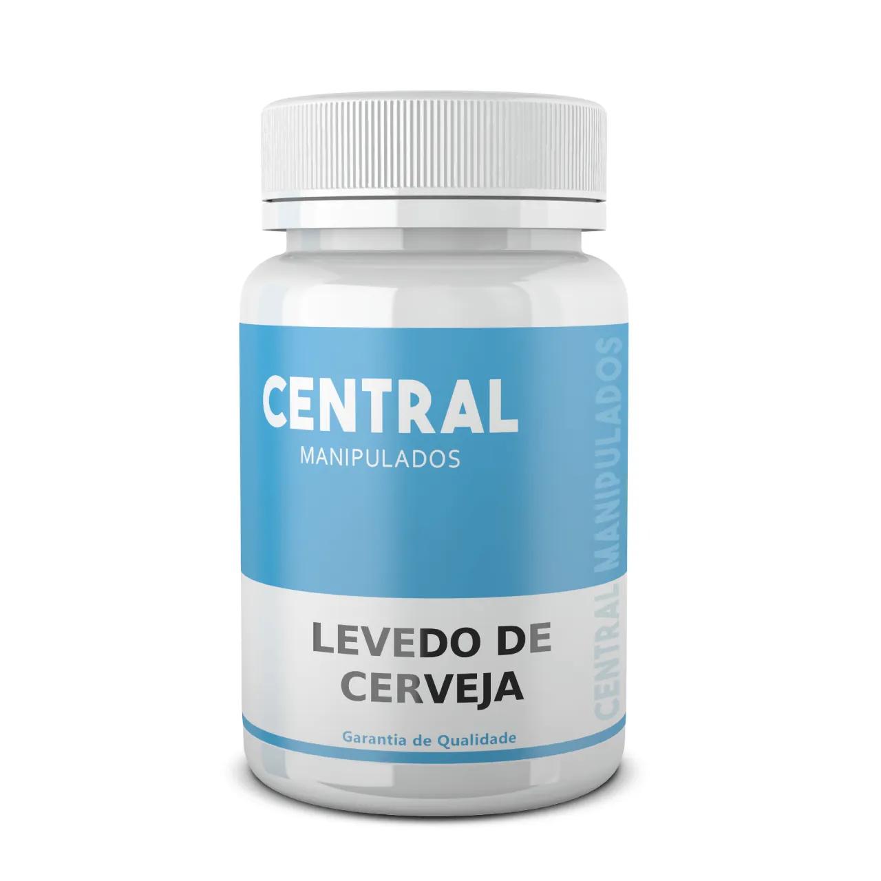 Levedo de cerveja 500mg - 30 cápsulas - Alto teor de proteínas, fibras e vitaminas, Indicada para diabetes, Protetor do sistema nervoso