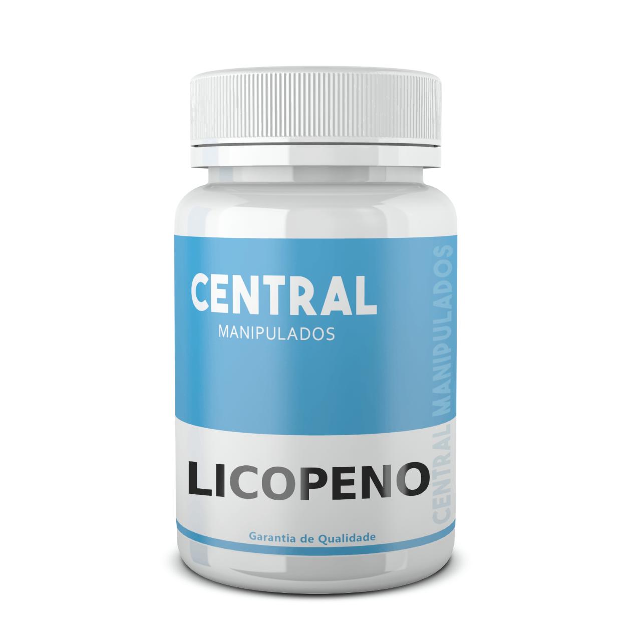 Licopeno 10mg - 60 Cápsulas - Grande ação antioxidante que combate os radicais livres, prevenindo o envelhecimento precoce e doenças