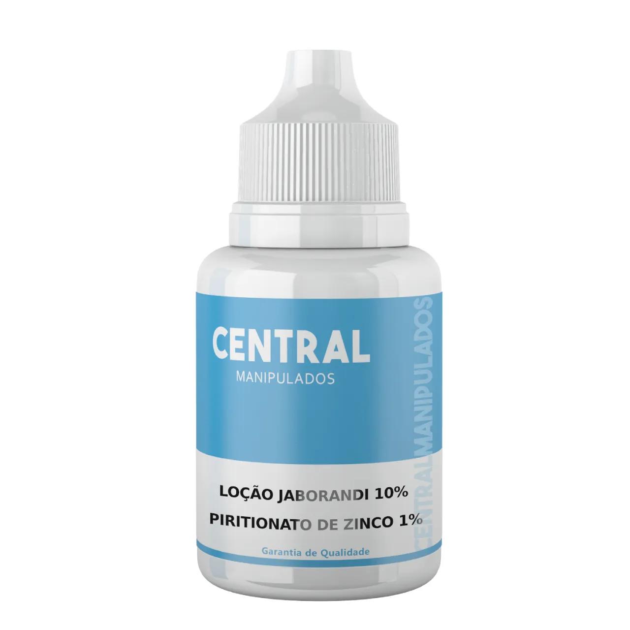 Loção Capilar Jaborandi 10% + Piritionato de Zinco 1% 100ml - Combate à queda capilar, Estimula o crescimento, Anticaspa,  Controle da Oleosidade