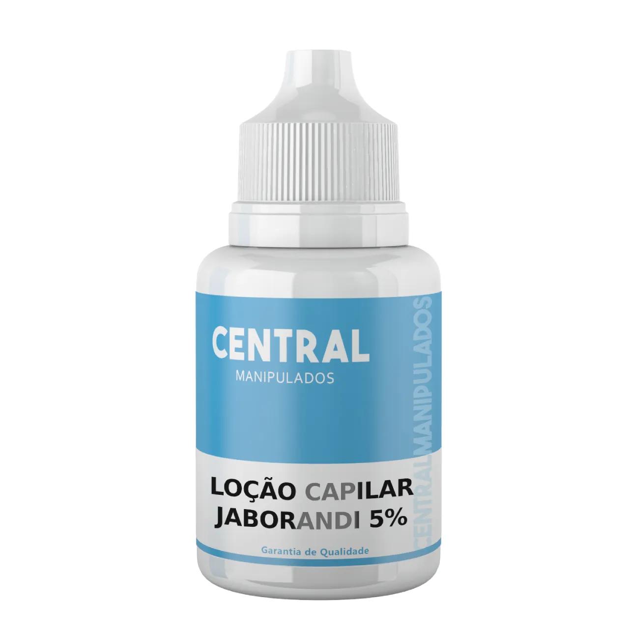 Loção Capilar Jaborandi 5%  100ml - Combate à queda capilar, Estimula o crescimento, Saúde dos Fios