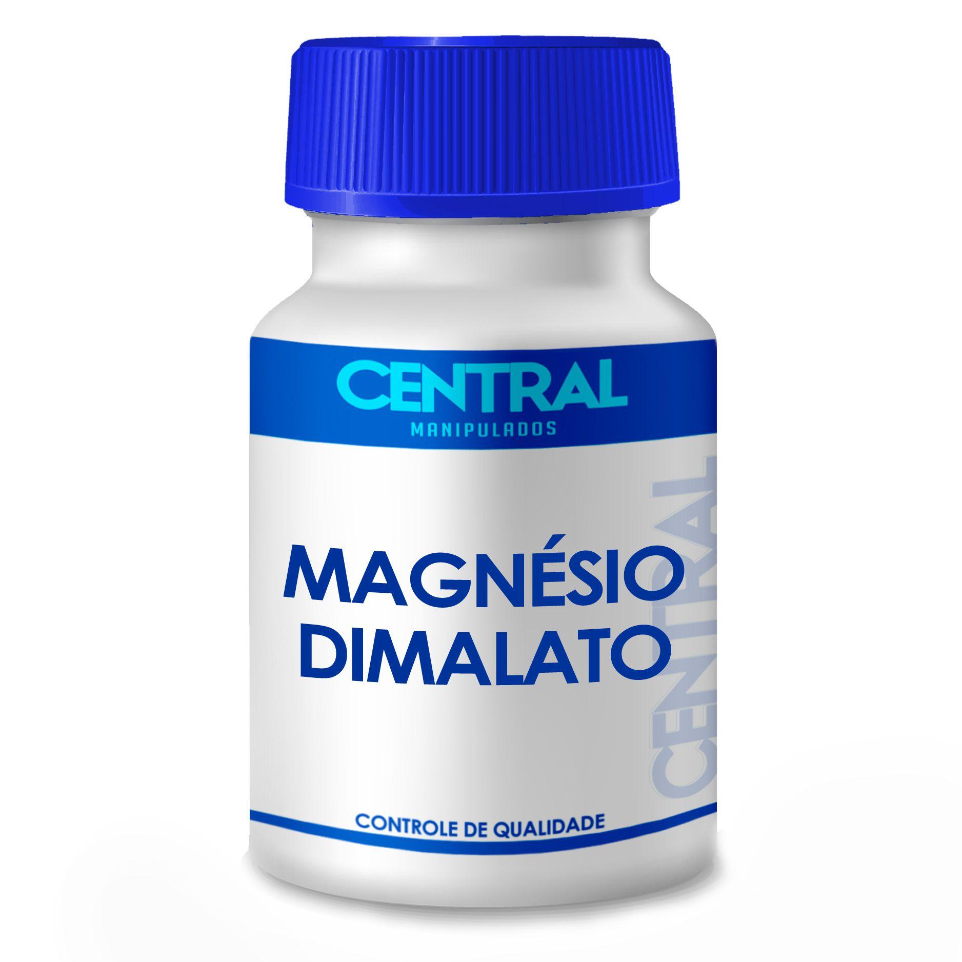 Magnésio dimalato 300mg 120 cápsulas - Melhora a fraqueza muscular e a saúde óssea