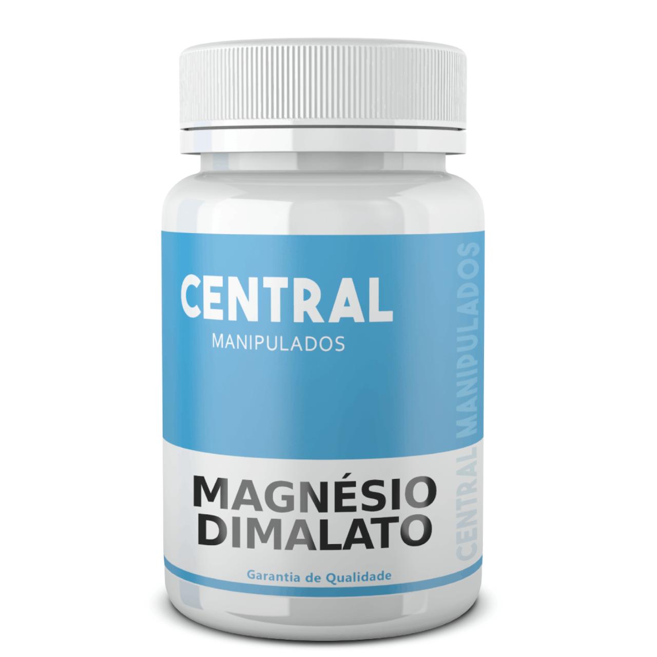 Magnésio dimalato 500mg - 120 cápsulas - Melhora fraqueza muscular, dores e espasmos, rápida recuperação muscular, Coadjuvante na fibromialgia