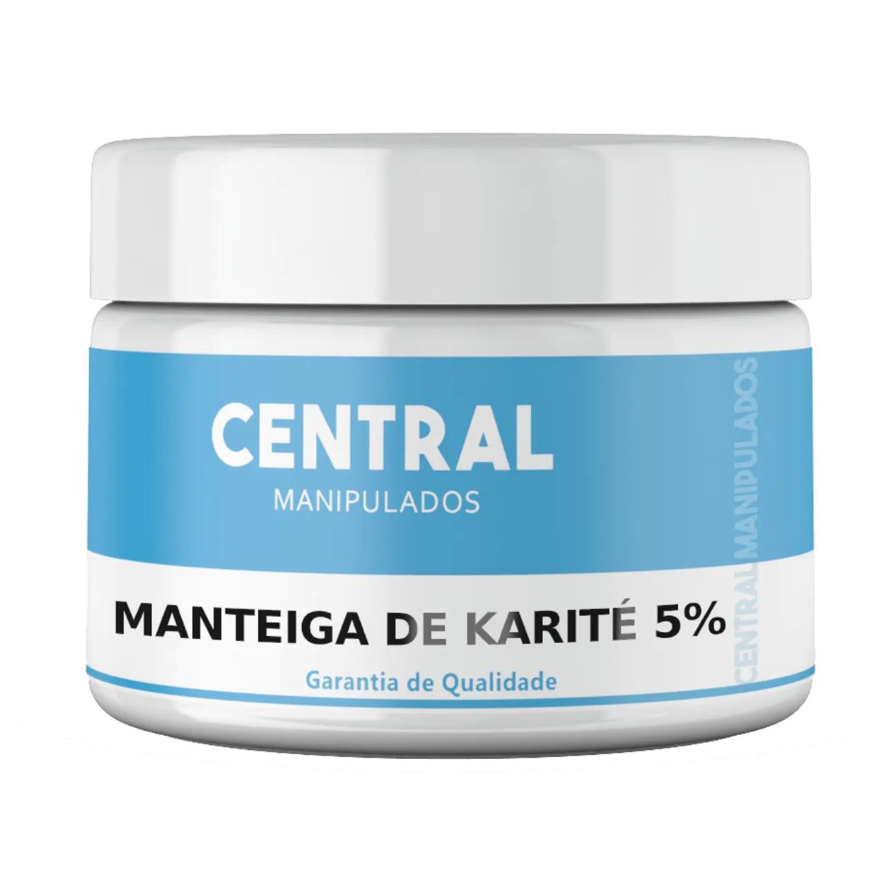 Manteiga de Karité 5% Creme 100g - Hidratante e Antioxidante, Ideal para peles secas e áreas como joelho e cotovelo