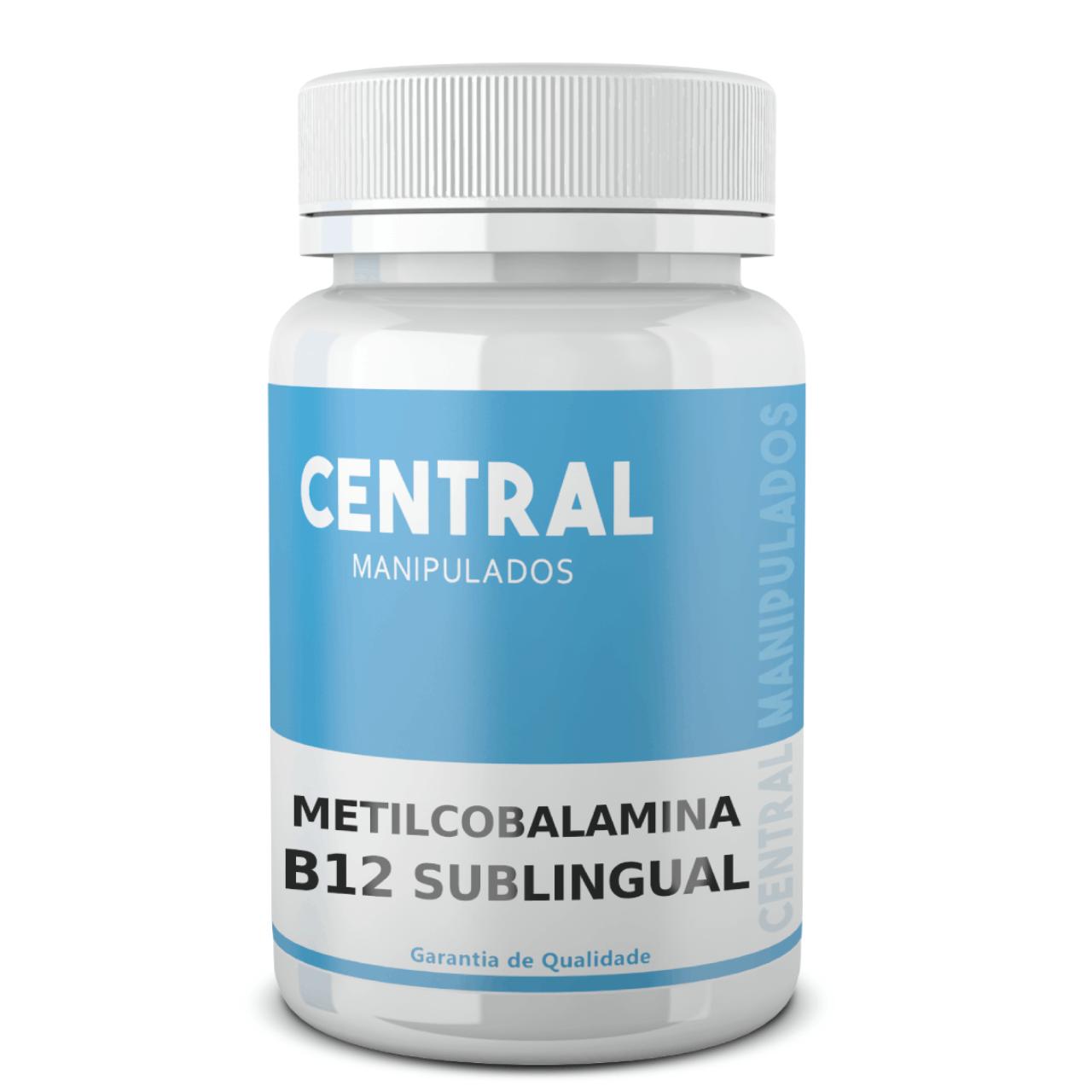 Metilcobalamina 800mcg - 60 cápsulas - Vitamina B12 - Sublingual (Tapiocaps)