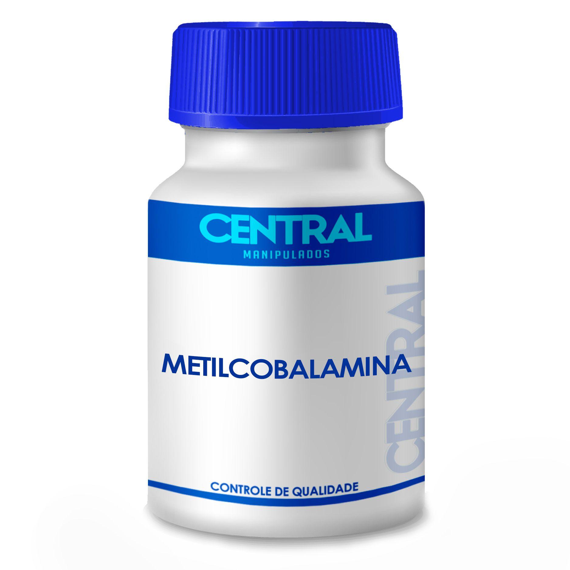 Metilcobalamina 1.500mcg 60 cápsulas - Vitamina B12 - Sublingual