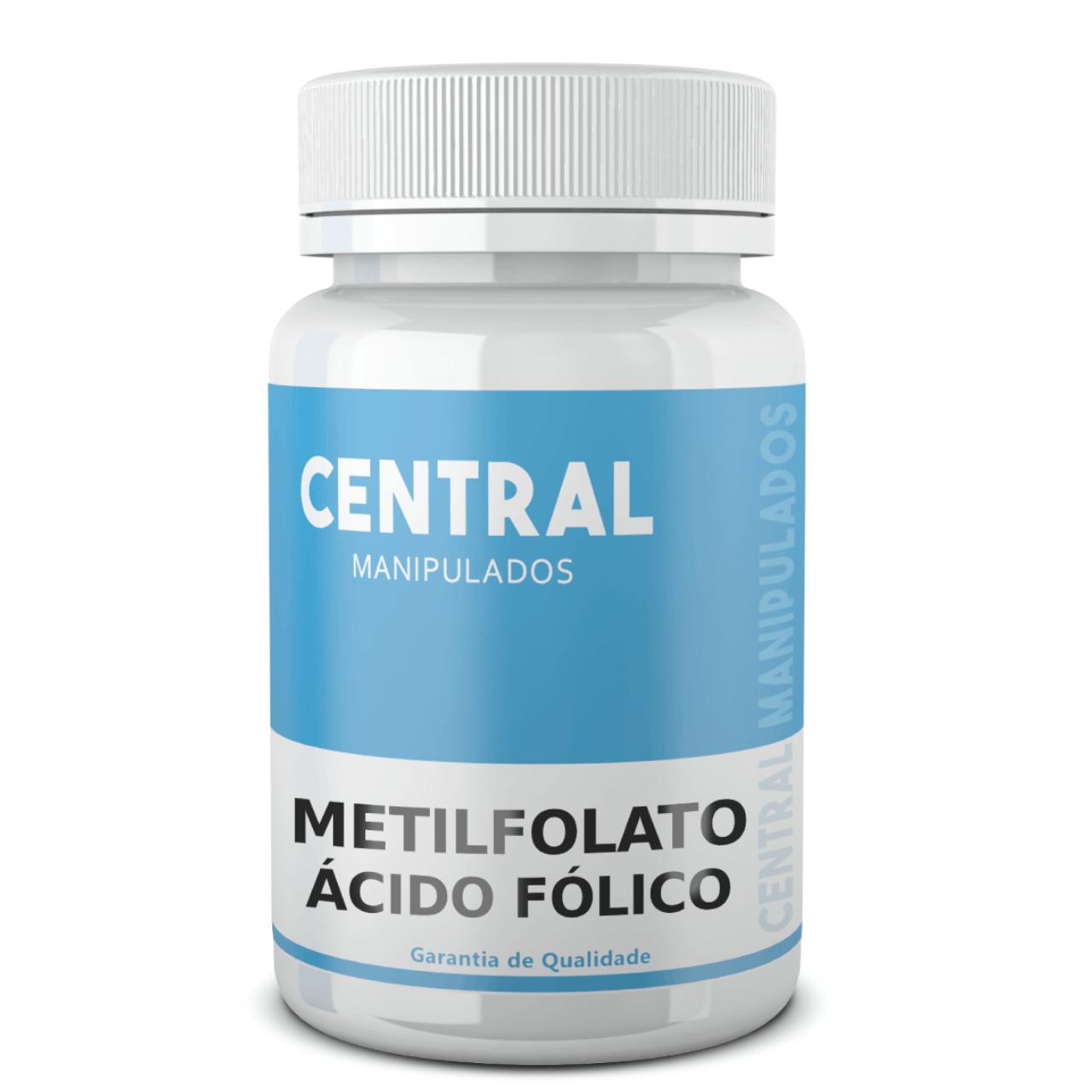 Metilfolato 800 mcg - 60 cápsulas - FORMA ATIVO DO ÁCIDO FÓLICO