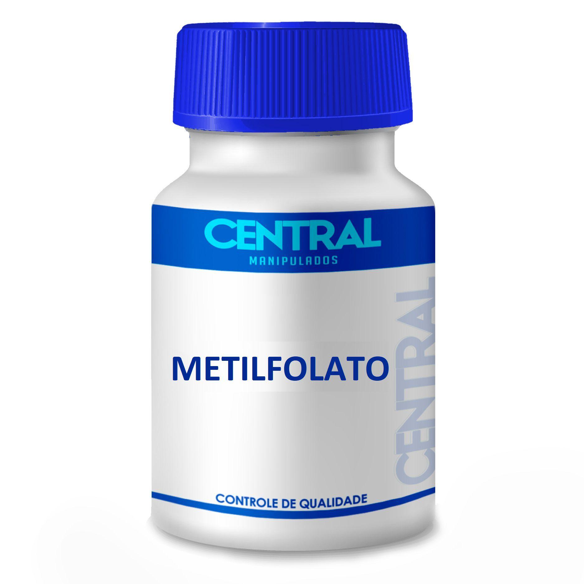 Metilfolato 1.000 mcg 120 cápsulas - Forma Ativa do Ácido Fólico