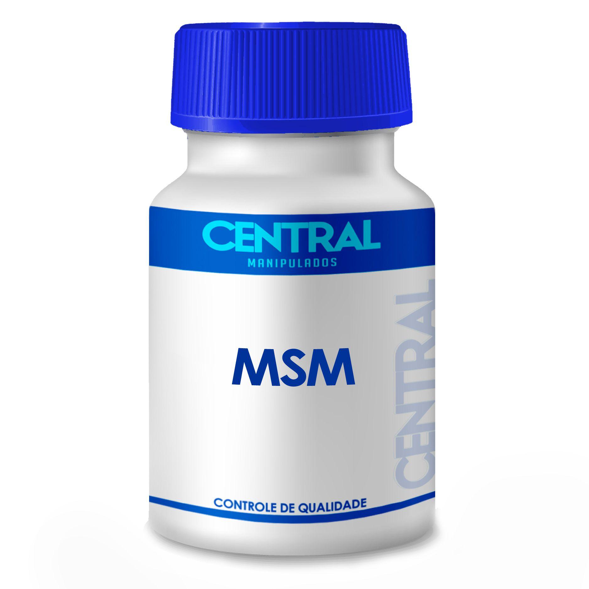 MSM 500mg 30 cápsulas - forma natural de enxofre orgânico