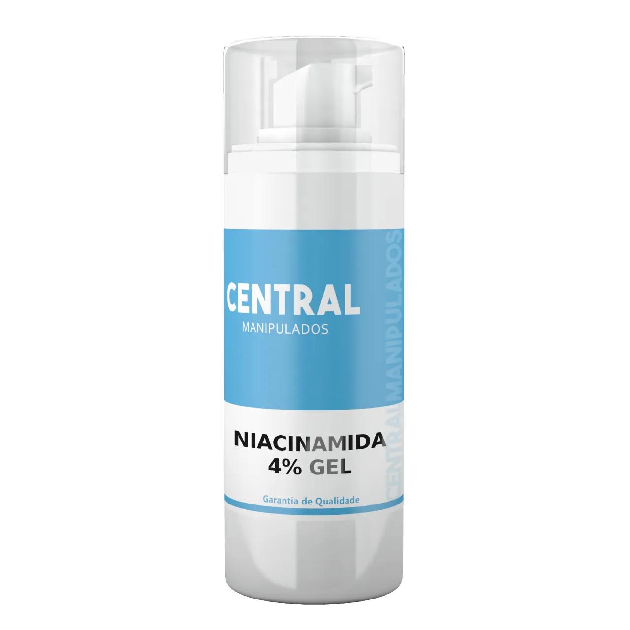 Niacinamida 4% Gel 60g - Ação Antienvelhecimento, uniformidade da pele, ação anti-inflamatória, que ajuda a combater a acne
