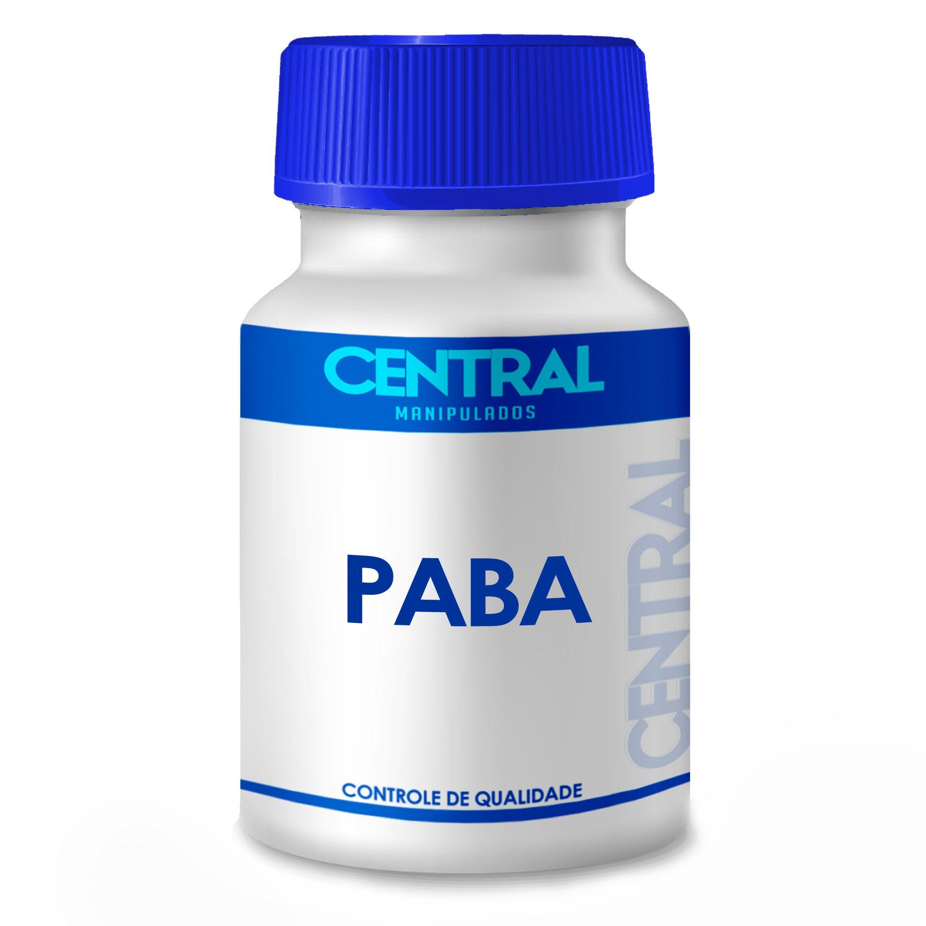 PABA 20mg 120 cápsulas - Antioxidante e Previne e evita queda capilar