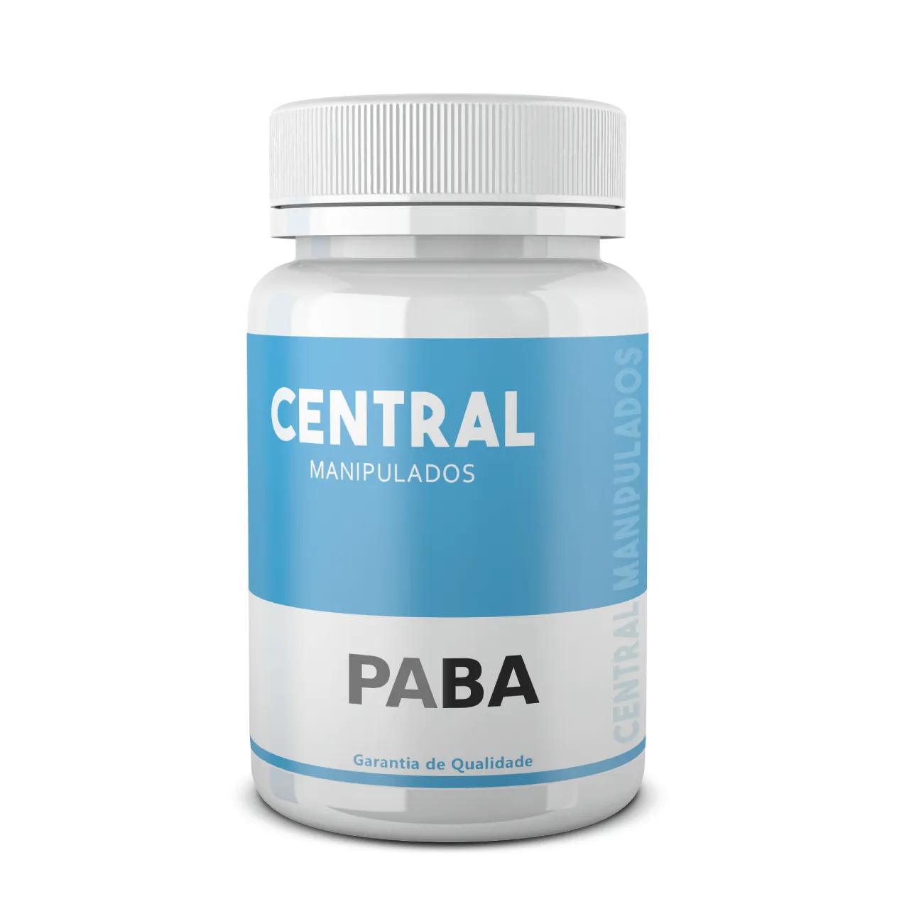 PABA 20mg - 120 cápsulas - Previne e evita queda capilar, Melhora Problemas Intestinais, Previne o câncer de pele e coloração desigual da pele