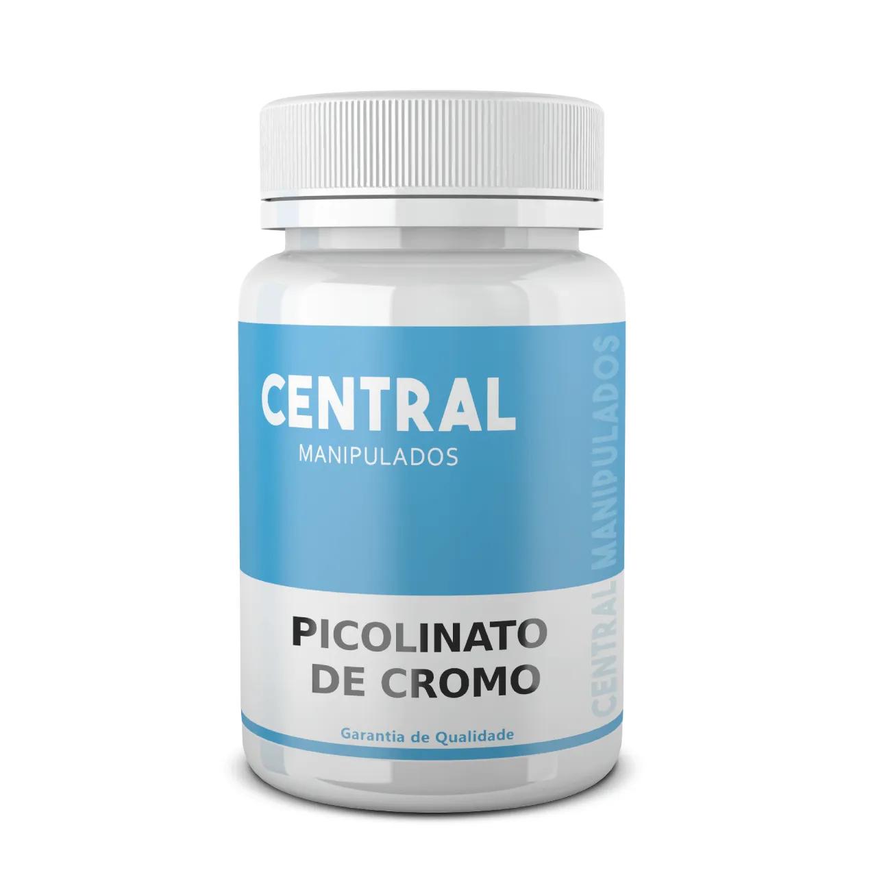 Picolinato de Cromo 350mcg - 120 cápsulas - Reduz Vontade por Doces, Melhora colesterol e triglicérideos altos, Diabetes, Obesidade