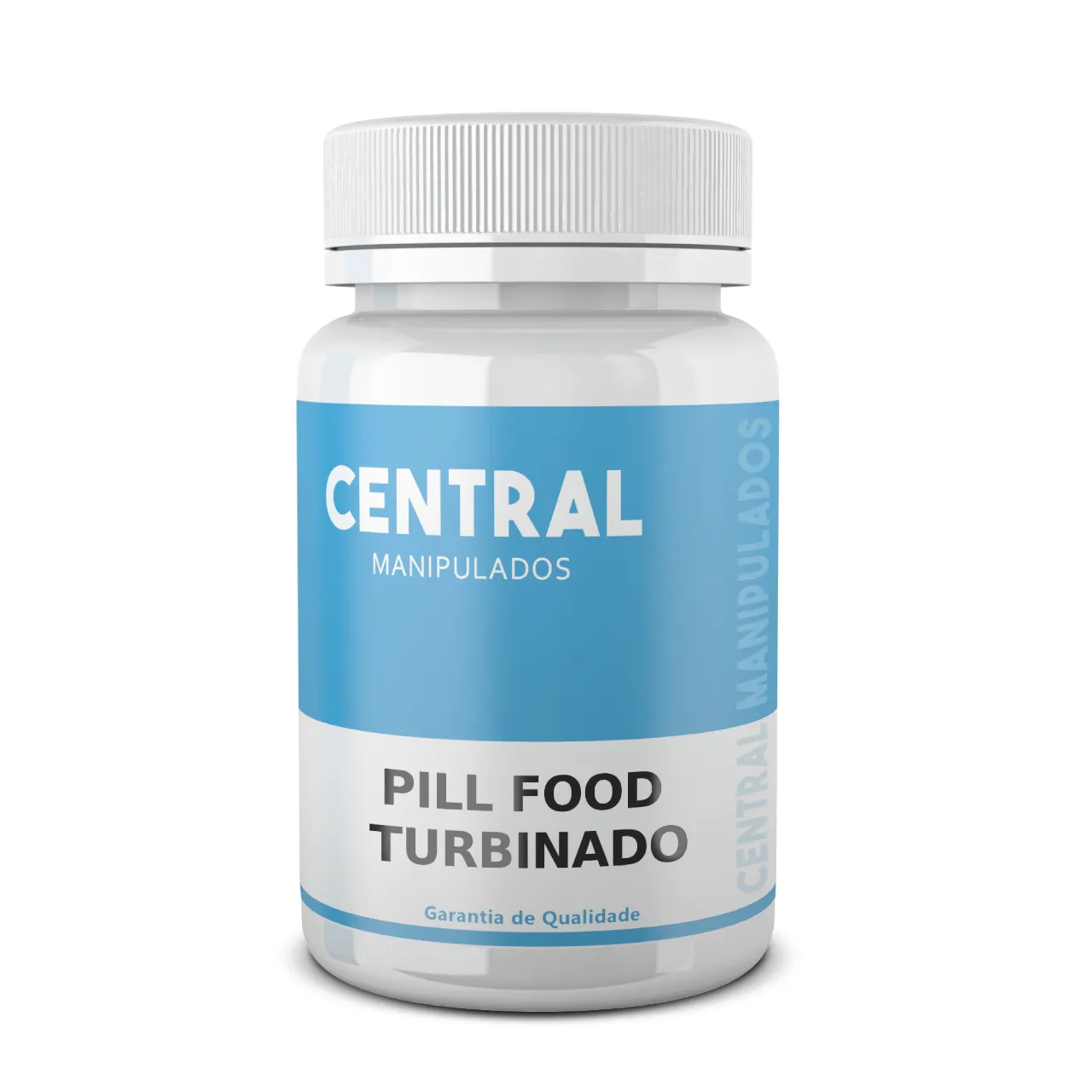 Central Pill Food Turbinado - 120 cápsulas - complexo vitamínico Central Manipulados