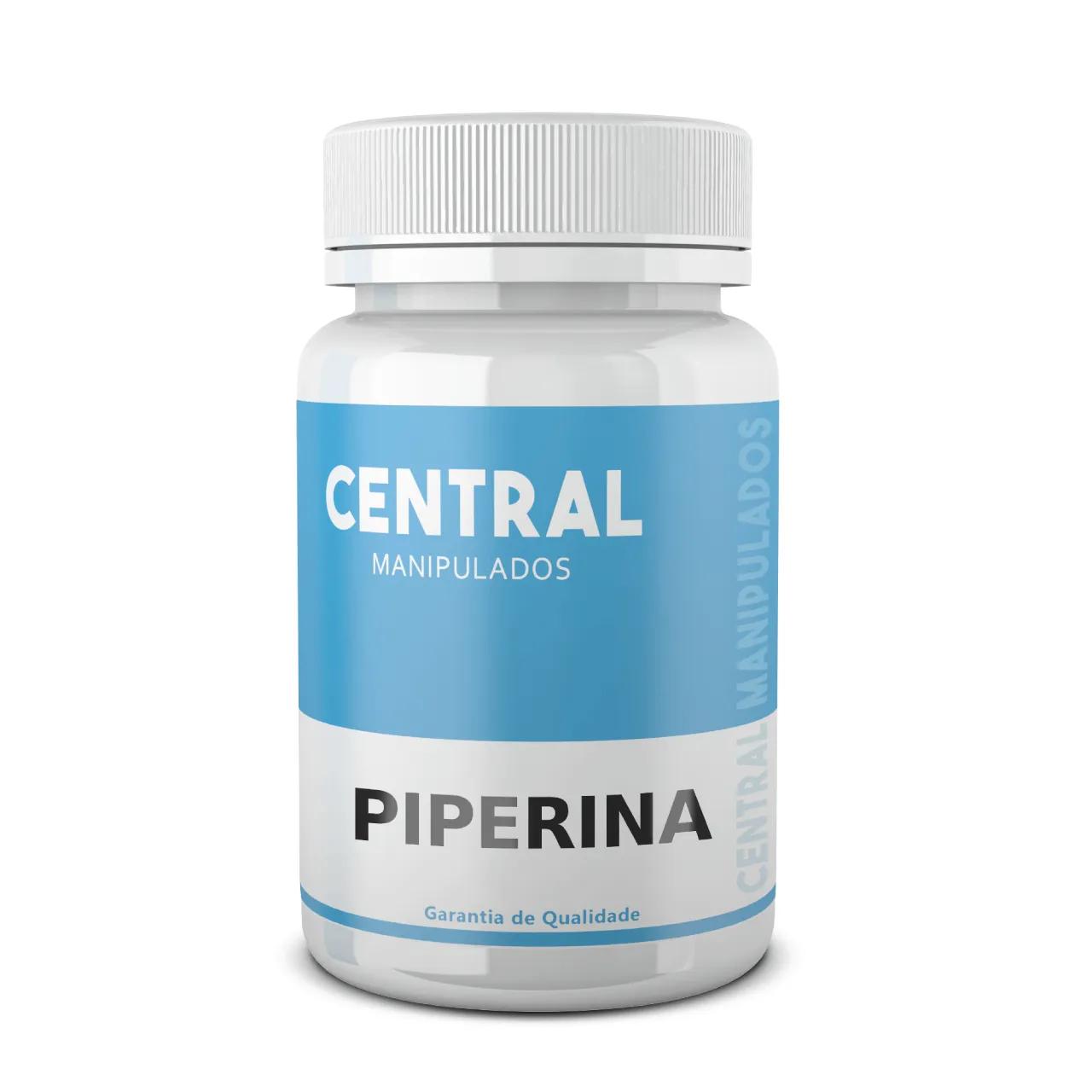 Piperina 15mg - 120 Cápsulas - Aumenta a Absorção de Vitaminas e Nutrientes, Melhora a Digestão