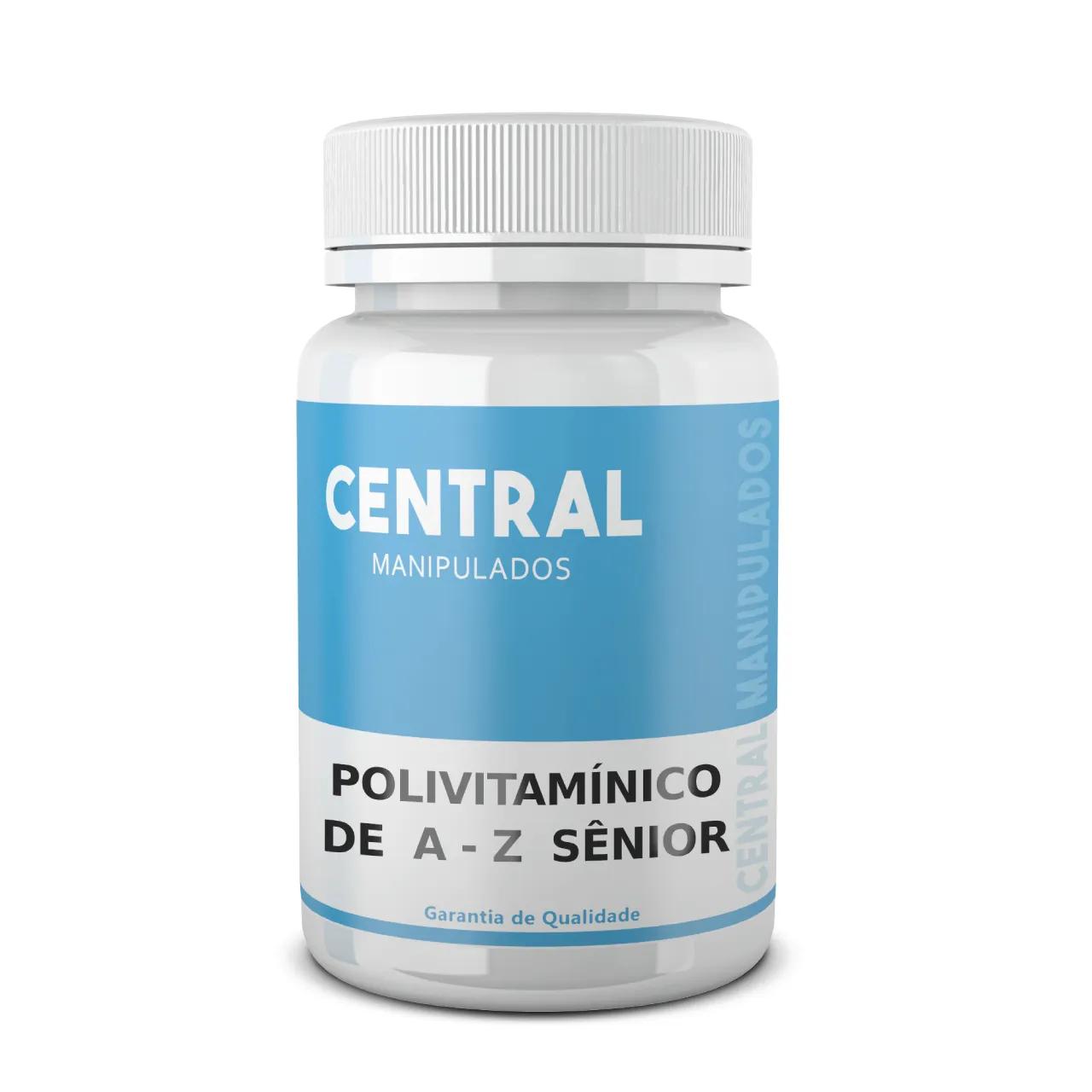 Central Polivitamínico Sênior de A-Z - 30 cápsulas - complexo vitamínico Central Manipulados