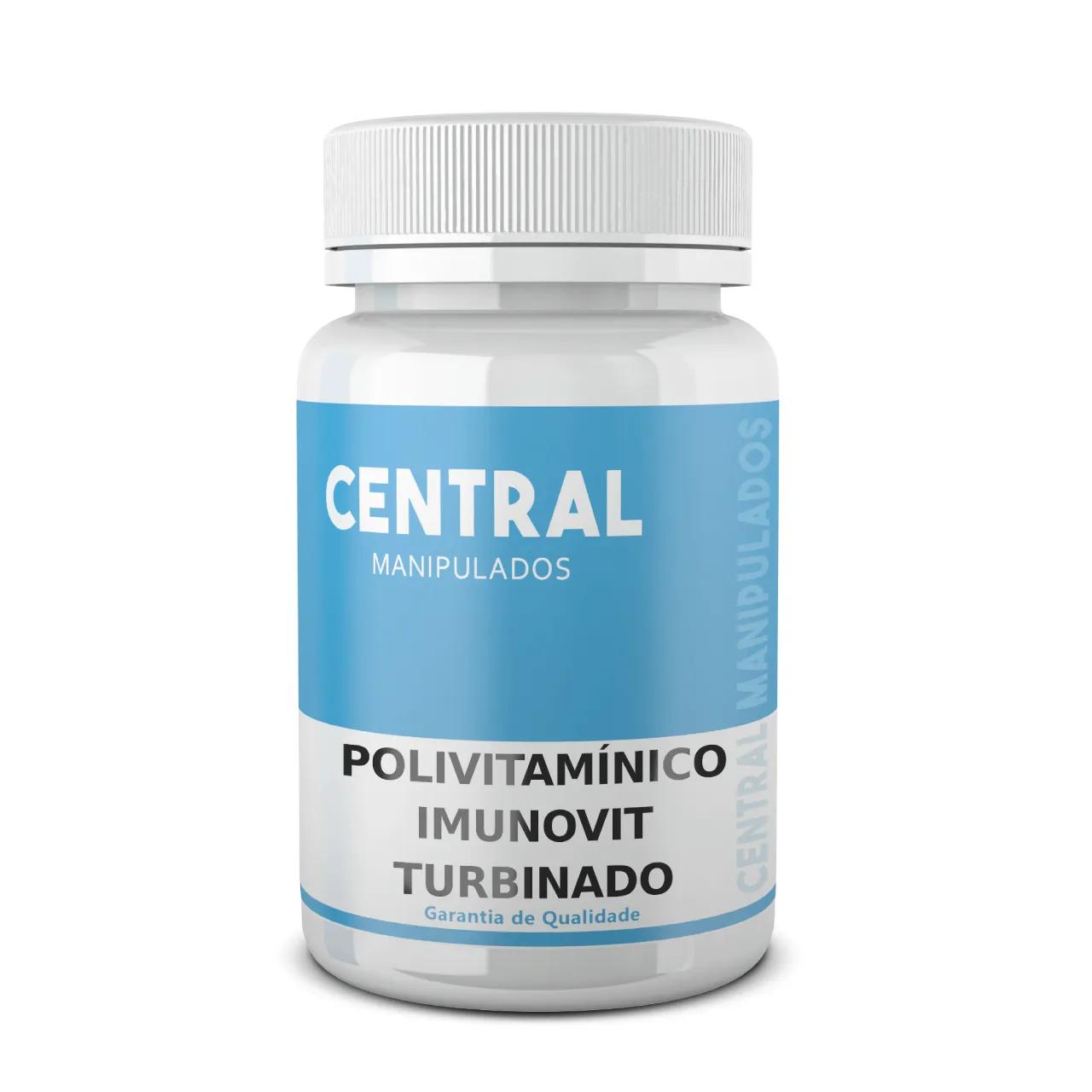 Polivitamínico ImunoVit TURBINADO - Rico em Própolis, D3, Zinco e Vitamina C - 90 cápsulas