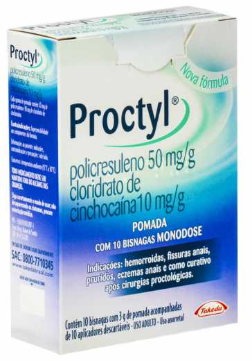 PROCTYL POMADA USO RETAL 10 BISNAGAS- TAKEDA ®