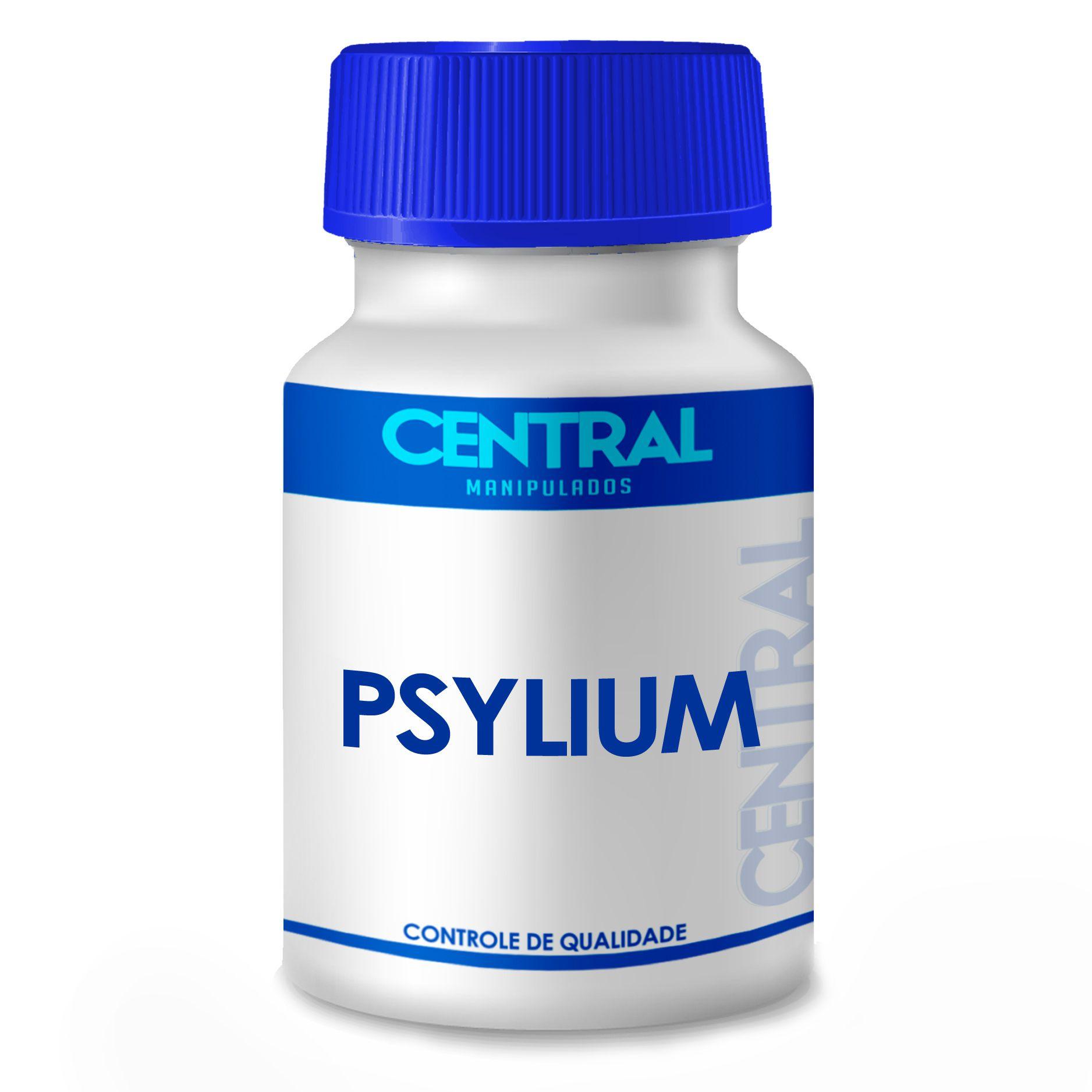 Psyllium 500mg 60 cápsulas - Para constipação crônica, hemorroidas, colites e diverticulites