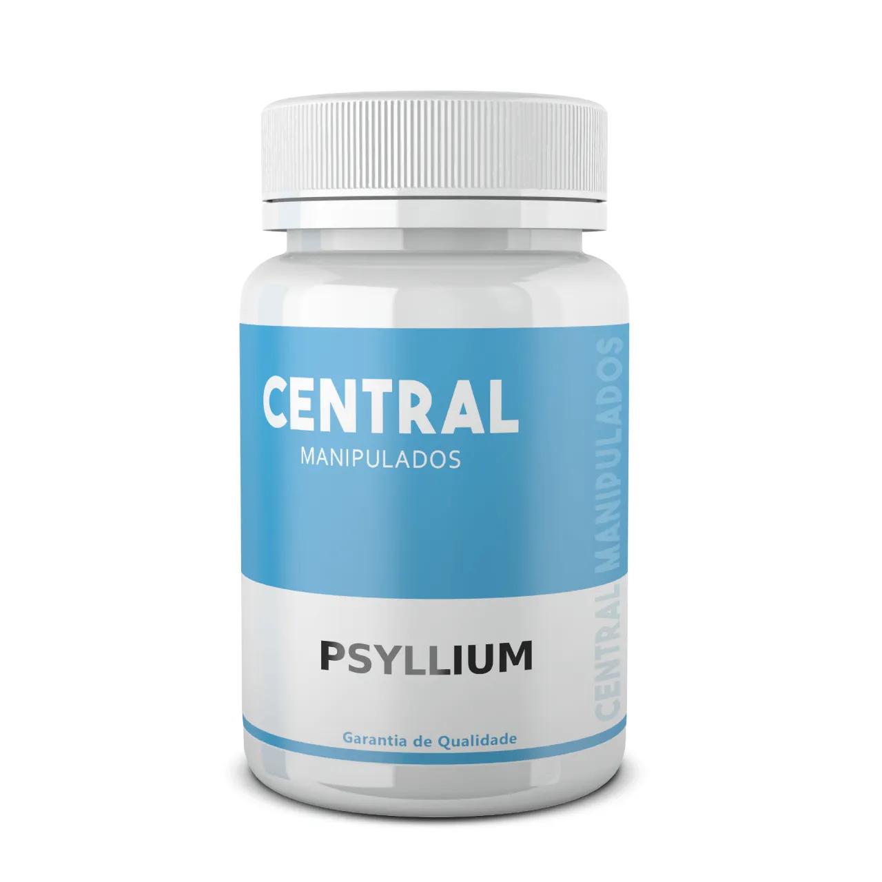 Psyllium 500mg - 60 cápsulas - Para constipação crônica, hemorroidas, colites e diverticulites, saúde intestinal