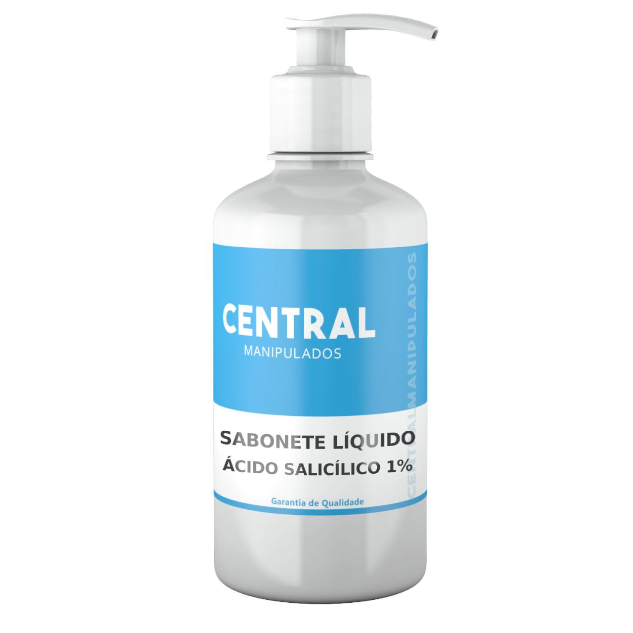 Sabonete Líquido Ácido Salicílico 1% - 100mL - Acne, Caspa, Dermatite seborreica, Regularizador de oleosidade, Esfoliante